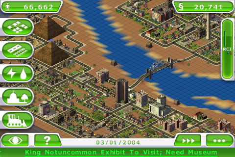 SimCity Deluxe (iPhone, iPod Touch)